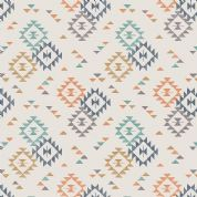 Lewis & Irene To Catch a Dream - 5027 - Aztec Style Geometric Traingle Print on Cream - A173.1 - Cotton Fabric